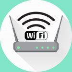 Wi fi wireless router web icon. Vector illustation